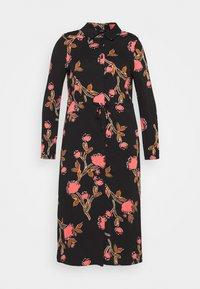 Vero Moda Curve - VMPRIEBE MIDI DRESS - Shirt dress - black - 0