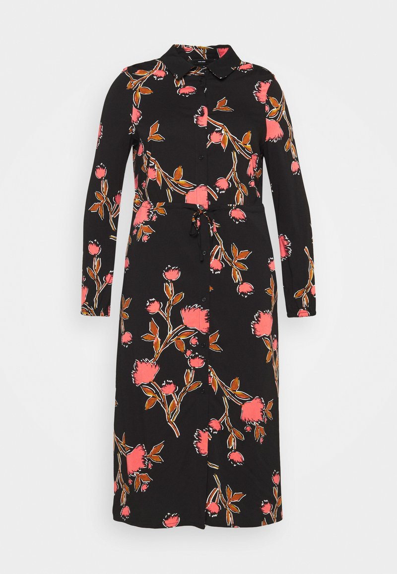 Vero Moda Curve - VMPRIEBE MIDI DRESS - Shirt dress - black
