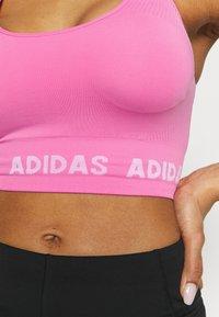 adidas Performance - AEROKNIT BRA - Light support sports bra - pink - 6
