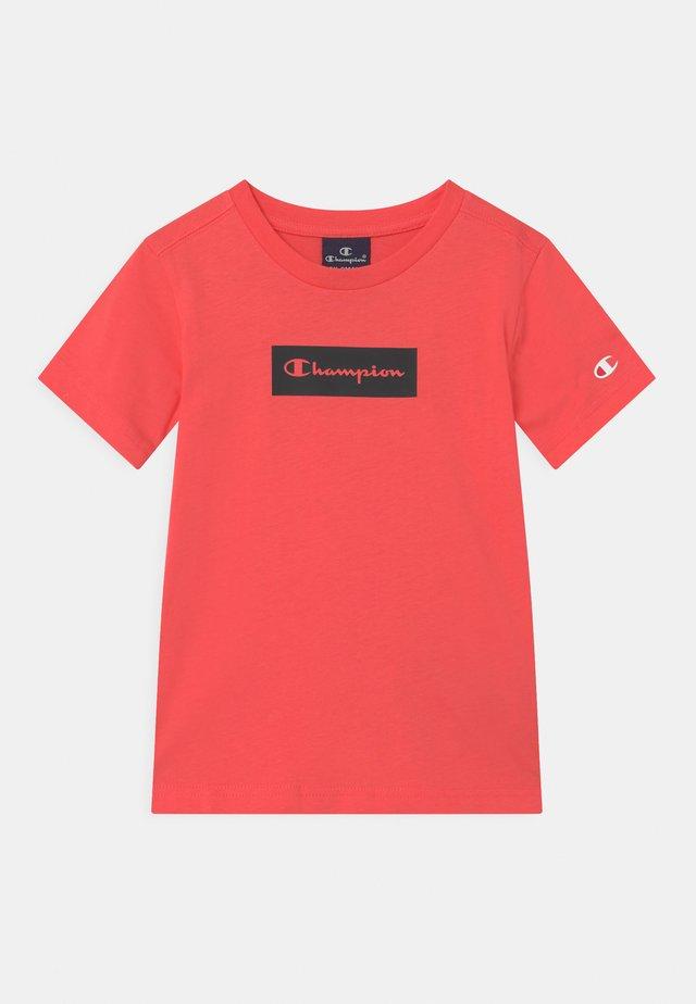 AMERICAN PASTELS CREWNECK UNISEX - T-shirt imprimé - coral