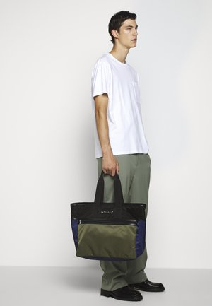 Shopping bag - black/ultramarine/forest green
