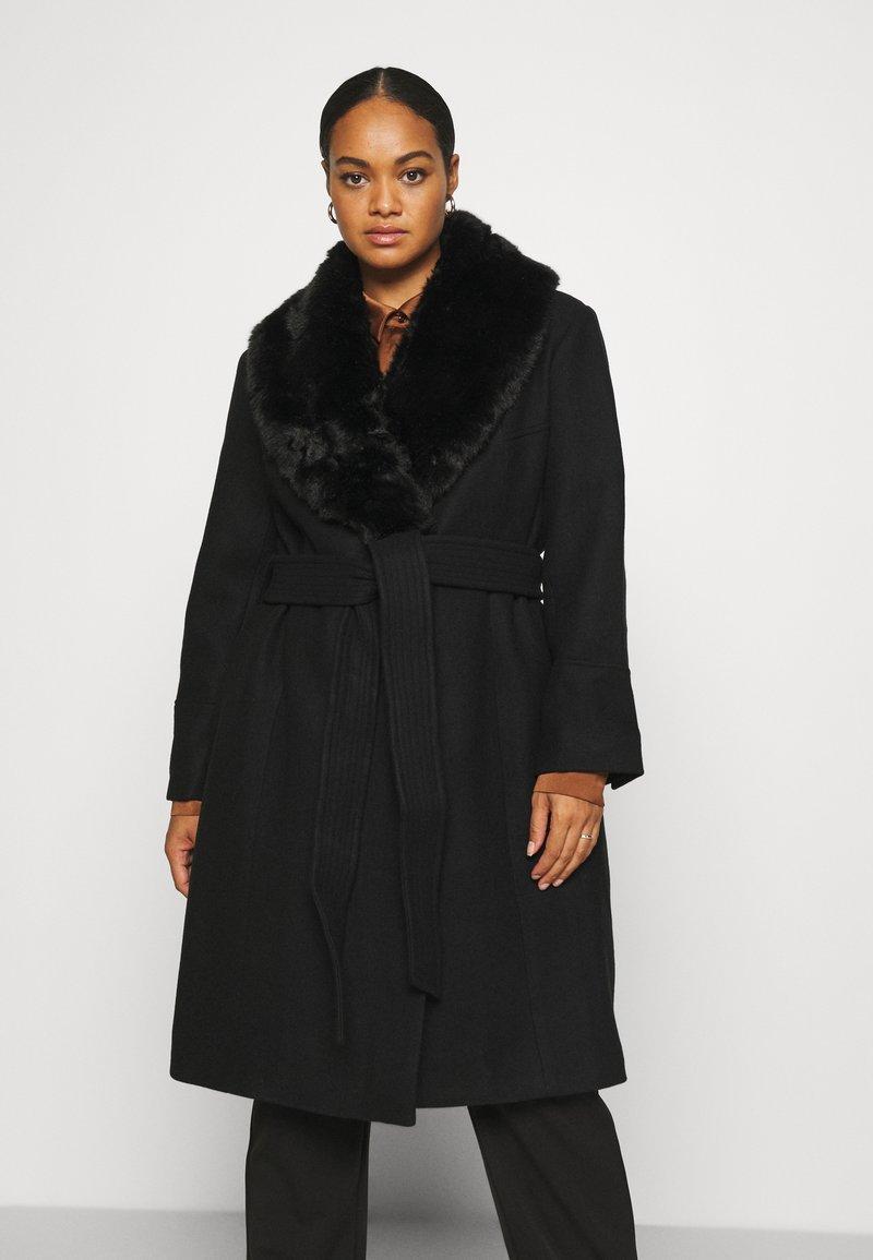Forever New Curve - EMORY WRAP COAT - Classic coat - black