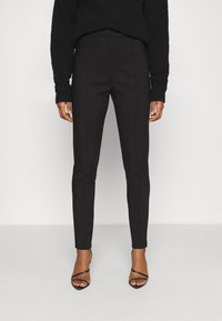 Nly by Nelly - DRESSED SLIM PANTS - Trousers - black - 0