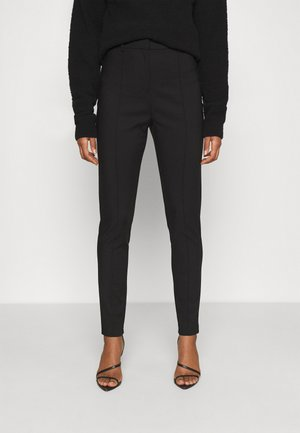 DRESSED SLIM PANTS - Stoffhose - black