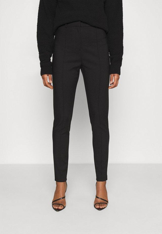 DRESSED SLIM PANTS - Pantalon classique - black