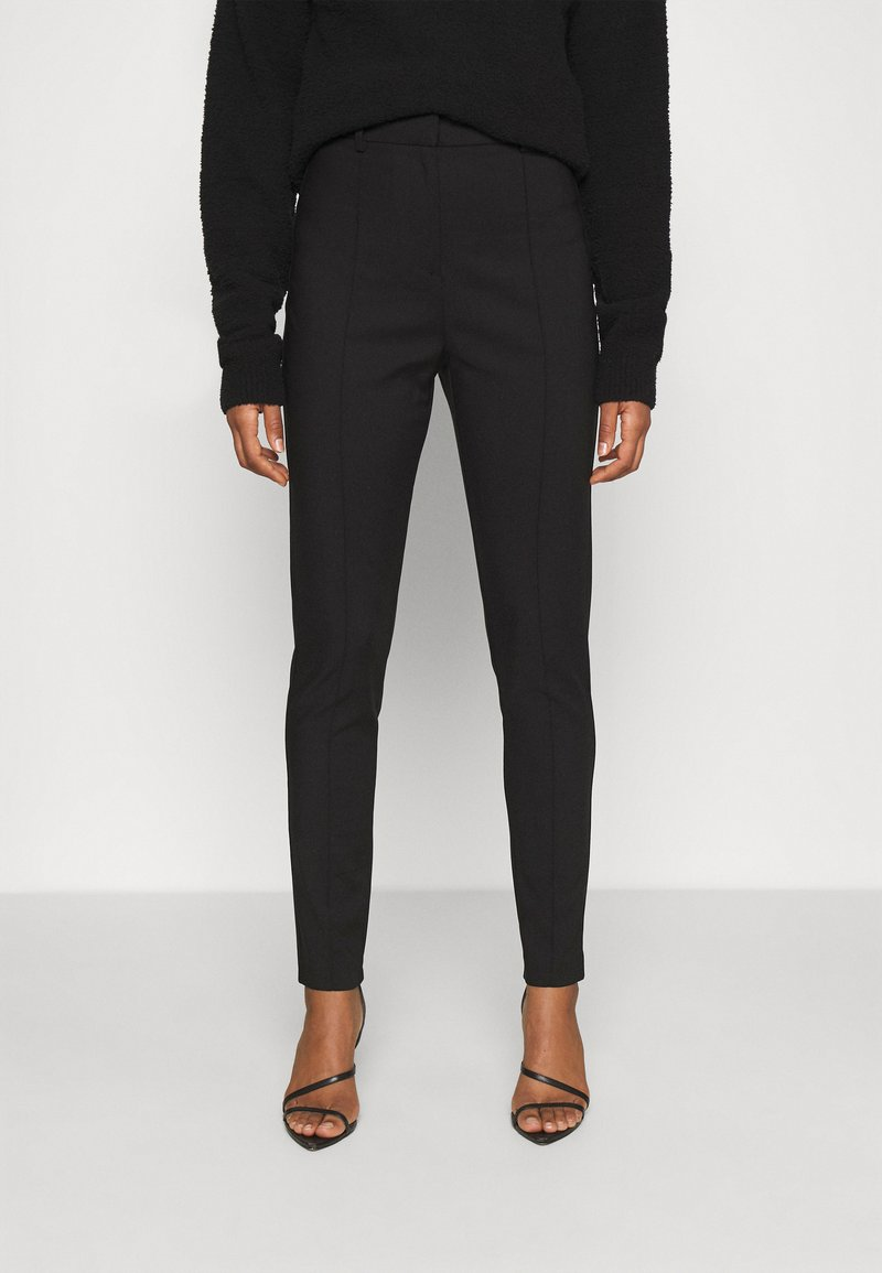 Nly by Nelly - DRESSED SLIM PANTS - Trousers - black