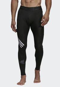 adidas Performance - Alphaskin Sport+ Long 3-Stripes Tights - Leggings - black - 0