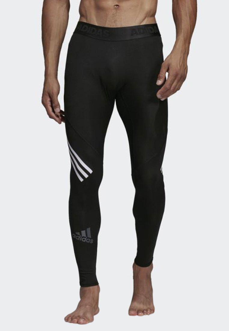 adidas Performance - Alphaskin Sport+ Long 3-Stripes Tights - Leggings - black