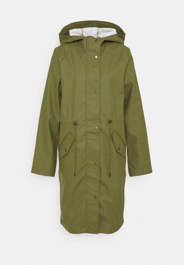 ONLRIE RAINCOAT - Waterproof jacket - capulet olive