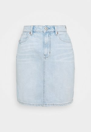 MOM SKIRT - Denim skirt - light blue