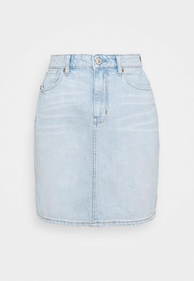 MOM SKIRT - Gonna di jeans - light blue