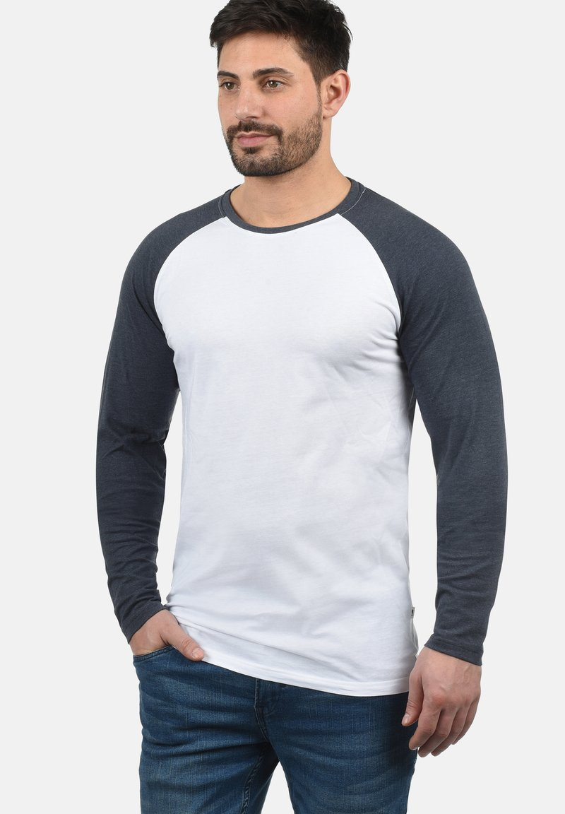 Solid - Long sleeved top - white bl m