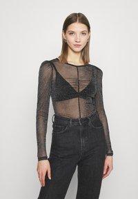 Monki - SILJA - Long sleeved top - black - 0