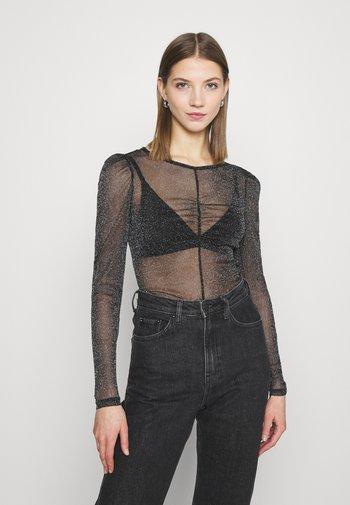 SILJA - Long sleeved top - black