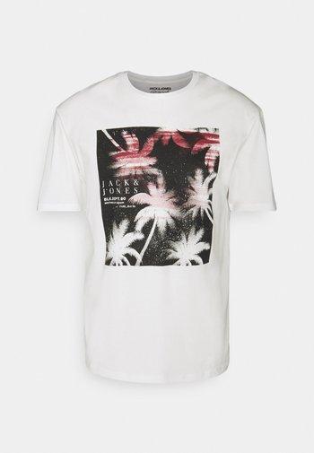 JORCOCO LOGO TEE CREW NECK - Print T-shirt - cloud dancer
