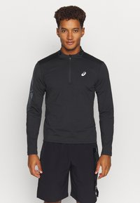 ASICS - ICON WINTER ZIP - Long sleeved top - performance black/carrier grey - 0