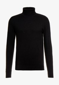 Jack & Jones - JJEEMIL ROLL NECK - Jersey de punto - black - 4