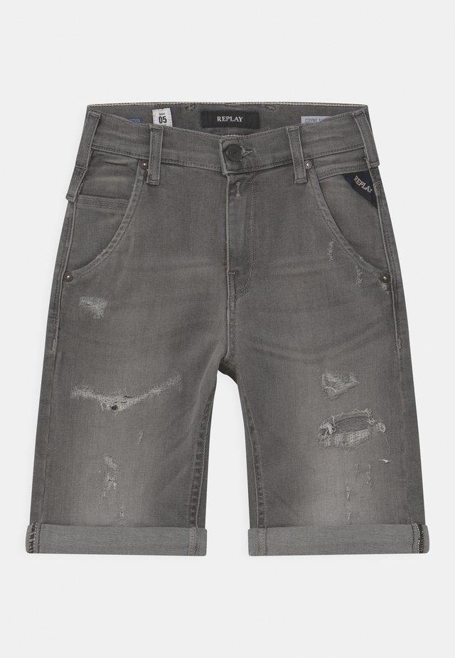 Jeansshort - grey denim