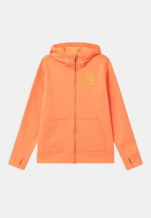 KIDS OAK FULL-ZIP HOODIE UNISEX - Bluza rozpinana - papaya heather