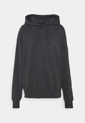 Long Oversized Hoodie - Hoodie - dark grey