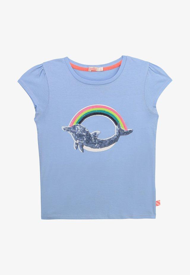 T-shirt print - bleu celeste