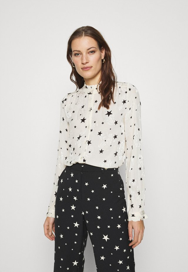 GARDEN CATO BLOUSE - Pusero - warm white/black