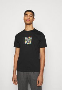 PS Paul Smith - MENS ZEBRA HANDS - Print T-shirt - black - 0