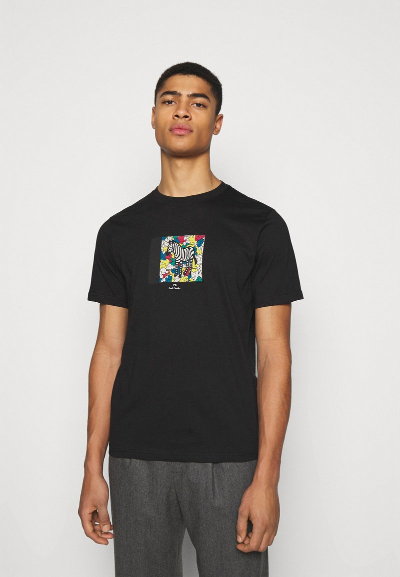 PS Paul Smith - MENS ZEBRA HANDS - Print T-shirt - black