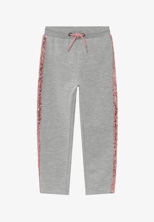 KIDS SEQUIN SIDE STRIPE - Pantalon de survêtement - grey