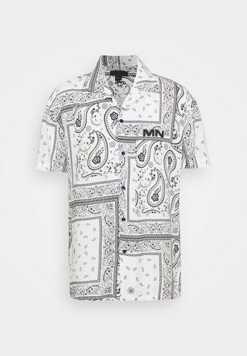 BANDANA PRINT BOWLING - Shirt - white