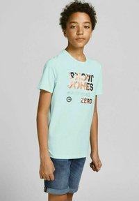 Jack & Jones Junior - Print T-shirt - bleached aqua - 1