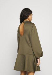 Closet - HIGH NECK PEPLUM DRESS - Day dress - khaki - 2