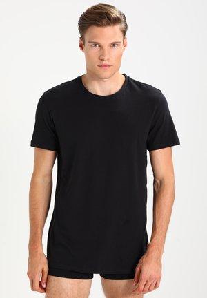 CREW COMFORT FIT 2 PACK - Unterhemd/-shirt - jet black