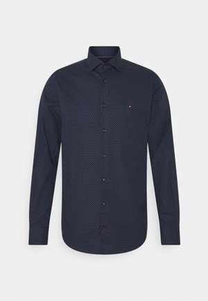 DOT PRINT SLIM - Formal shirt - navy/blue