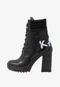 KARL LAGERFELD - VOYAGE ANKLE LACE LOGO BOOT - High heeled ankle boots - black - 1