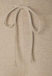 Even&Odd - SET STRICK - Jumper & Wide leg trouser - Stickad tröja - sand - 6
