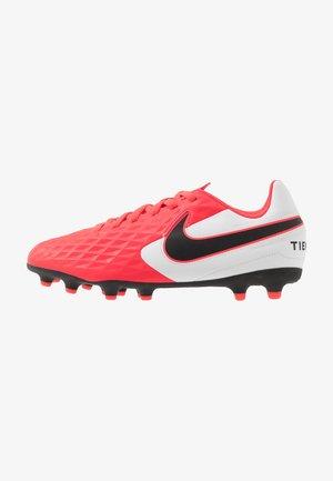 TIEMPO JR LEGEND 8 CLUB FG/MG UNISEX - Moulded stud football boots - laser crimson/black/white