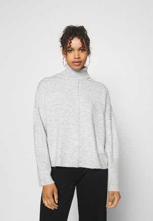 RECYCLED SEAM FRONT ROLL NECK - Jumper - grey