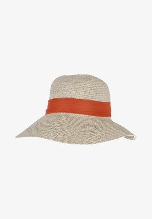 Hat - beige-orange