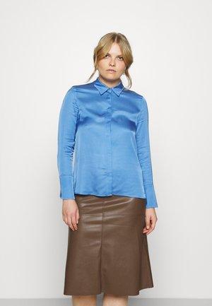 Button-down blouse - bright blue
