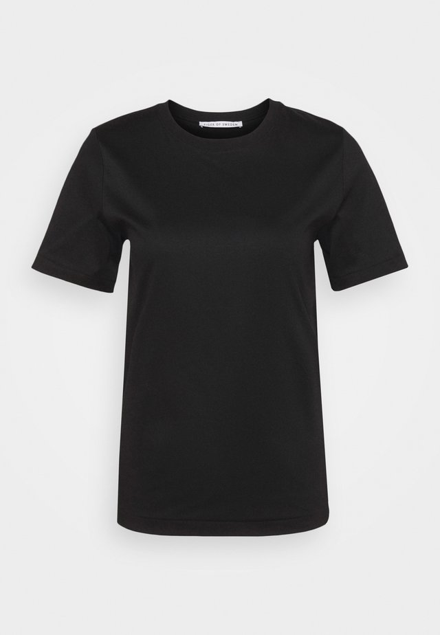 DEIRO - T-shirt basique - black