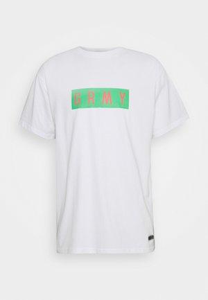 FRENZY TEE UNISEX  - T-shirt med print - white