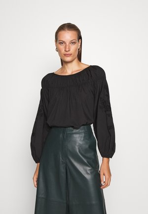 BLOUSE - Blouse - black dark