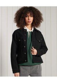 Superdry - BOYFRIEND TRUCKER - Denim jacket - black - 1
