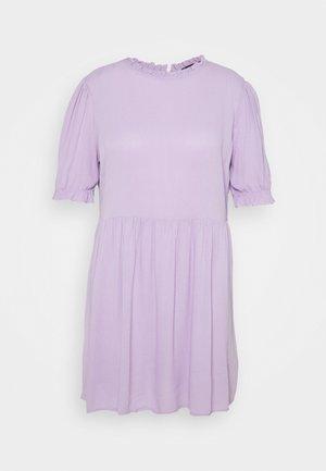 FRILL NECK SMOCK DRESS - Denní šaty - lilac