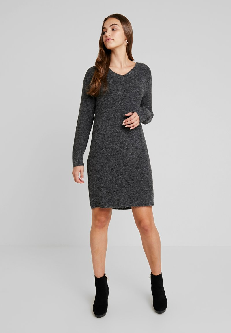 Vila - VIVIKKA  - Pletené šaty - dark grey melange