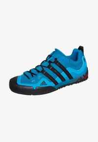 adidas Performance - TERREX SWIFT SOLO HIKING SHOES - Hiking shoes - dark solar blue/black - 0