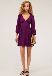 OYSHO - Day dress - dark purple - 1