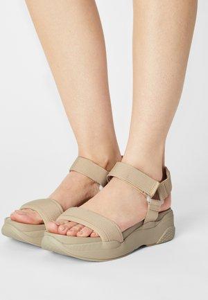LORI - Platform sandals - sand