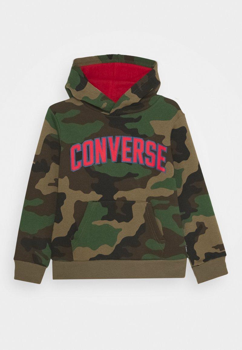 Converse - COLLEGIATE CAMO HOODIE - Hoodie - dusky green